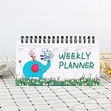 Agenda Semanal Diario Planificador Mensual Calendario Organizador Cuaderno Papelería Diario Kawaii Diario G