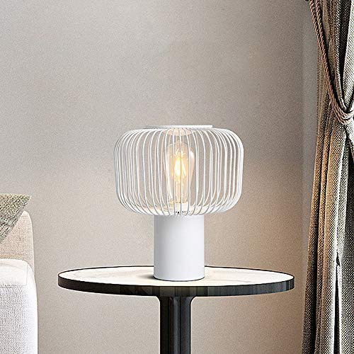 LCLZ Nordic Creative Home Minimalist Fashion Personality Decorative Black Wrought Iron Table Lamp Bedroom Bedside Lamps Living Room 25CM * 28CM