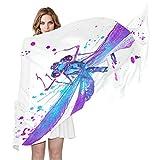 QMIN - Bufanda de seda para acuarela, diseño de libélula