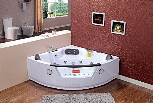 Whirlpool baño–la Habana 604/1520x 1520x 560mm/ozono desinfección/Panel de control con FM Radio/CD/MP3/44chorros para el cuerpo/ozono desinfección/24Meses Garantía/luz LED/de entrega rápida