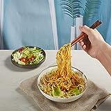 UNIFONE Essstäbchen, wiederverwendbar, chinesischer Stil, Holzdrache und Phönix, Essstäbchen, mit Halter und Tragetasche, chinesisches Geschenk-Set (2 Paar) - 6