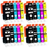 20 cartucce per stampanti con chip compatibile Canon PGI-520 CLI-521 per...