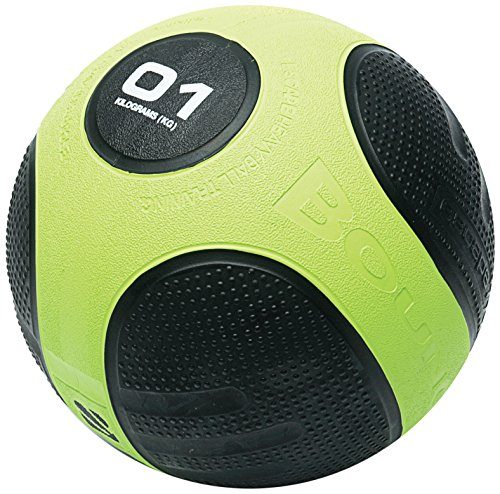 Escape Fitness Profi Gummimedizinball Gewichtsball Gymnastikball Fitnessball Total Grip Medizinball, grün, 1 kg