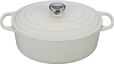 Le Creuset Signature Enameled Cast-Iron 6.75 Quart Oval French (Dutch) Oven, White