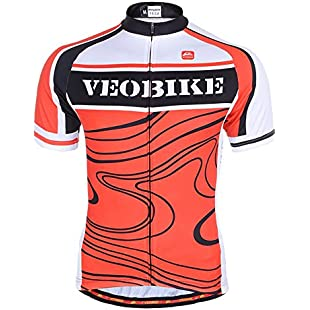 Veobike Rock Textures Cycling Jersey Bicycle Racing Summer Top Sportwear Short Sleeved Shirt for Men (XXL)