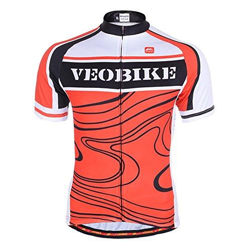 VEOBIKE Rock Textures Maillot de ciclismo de carreras de verano Top Sportwear...