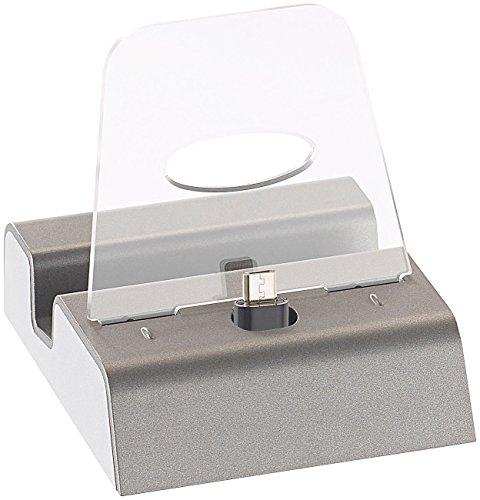 Callstel Micro USB Dockingstation: Docking-Station für Smartphones & Mobilgeräte mit Micro-USB-Anschluss (Docking Station Handy)