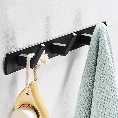 CSQHCZS-JSD rum aluminium-entrékrok, på väggen monterad modern galge med metallkrokar, för ingång/morrum/kök/badrum och mer ++ (färg: 3 krokar)