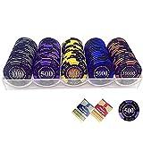 LJ 100 unids/Caja fichas de póquer Profesional Familiar fichas...