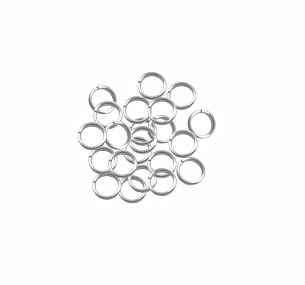95 Round 6.5mm 19 Gauge Stainless Steel Jump Rings Connectors Made in the USA Used in Fishing Lure, Jewelry and Key Ring Assembly
