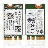 ASHATA 2.4GHz + 5GHz Tarjeta WiFi NGFF / M2,Adaptador de Red Inalámbrico para Lenovo/DELL/ASUS/Toshiba/Hasee/Acer,etc.(433 Mbps,802.11A / C.)