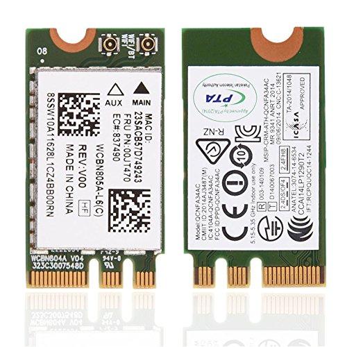 ASHATA Dual Band Wireless WiFi Karte, 2,4 GHz + 5 GHz PCI-E Wireless WiFi Karte Adapter,433 Mbit/s Drahtlos Mini PCI-e WLAN/802.11 AC Karte für Lenovo/Dell/Asus/Toshiba/Hasee usw.