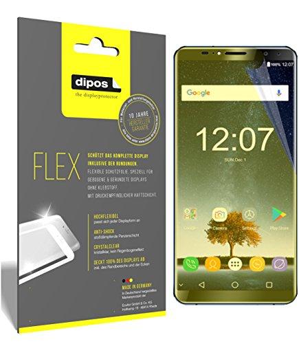 dipos I 3X Schutzfolie 100prozent kompatibel mit Oukitel K6 Folie (Vollständige Bildschirmabdeckung) Bildschirmschutzfolie