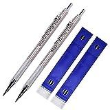 bravewind 2pcs 2.0mm 2B lápiz mecánico automático y 24de metal titulares de plomo Conduce recambios para dibujo, proyecto de dibujo, Carpenter