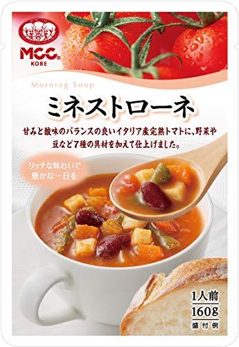 MCC エム・シーシー 朝のスープシリーズ ミネストローネ 160g 1ボール(10個入)