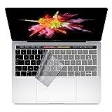 i-Buy Français Clavier Coque de Protection / Couverture AZERTY pour MacBook Pro 13' /15' avec Touch Bar & ID - Transparent / Clair