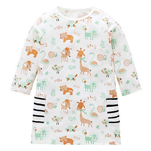 Jurk meisje 1-5 jaar herfst winter dierenprint jurk lange mouwen jurk prinses jurk meisjes kostuums babykleding meisje T-shirt jurk hoge taille