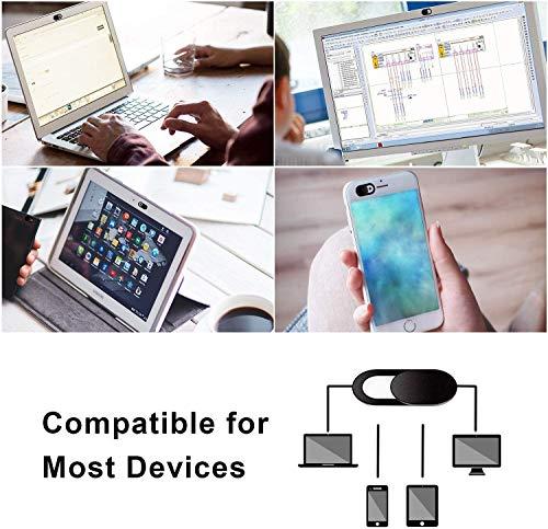 LIRAMARK Webcam Cover Slide, Ultra Thin Laptop Camera Cover Slide Blocker for Computer MacBook Pro iMac PC Tablet (Pack of 6)