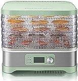 SHKUU Mini deshidratador Alimentos eléctrico 5 bandejas, máquina Secadora Frutas Digital con Temporizador y Control Temperatura, fácil Limpiar, para Frutas/Verduras/Carne/Hierbas/Semillas