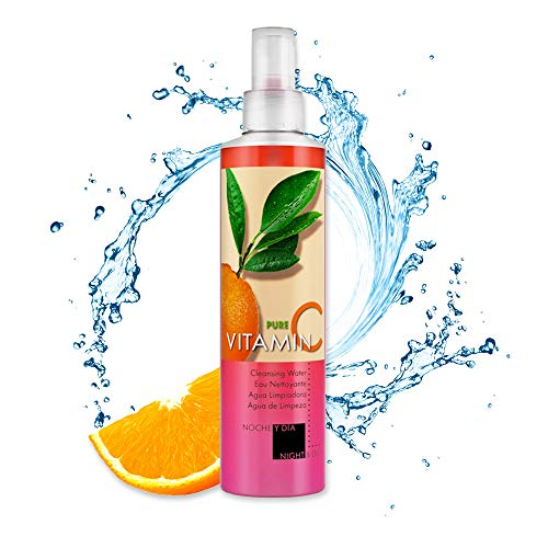 Noche Y Dia Vitamin C Facial Cleanser - Makeup Remover With Micellar Cleansing Water - Wrinkle, Fine Line, Age Spot, Acne & Hyperpigmentation Exfoliating Face Wash - Clear Skin & Pores - 8.5 fl oz