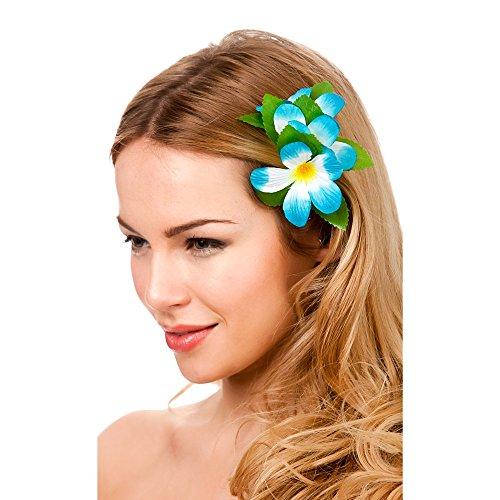 Hawaii Flower Hair Clip - Sky Blue