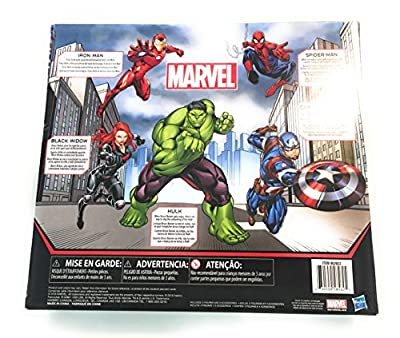 Marvel Avengers Action Figures - Iron Man, Hulk, Black Widow, Spider-Man & Captain America