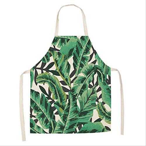 Mhde Schort 1 stuk plant cactus bloem hart patroon schort voor keuken huismannskost bakken reiniging accessoires katoen linnen slabbetjes B WQ0002-1