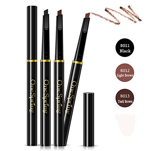 Bodermincer 3 Colors to Choose Automatic Waterproof Eyebrow Pencil (B013-Dark Brown)
