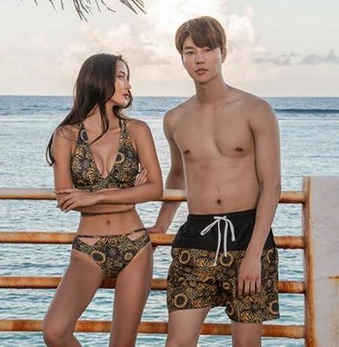 ZZNXYY Couples Maillot de Bain Bikini plage Vacances Couple Maillots de Bain, XXL, Hommes