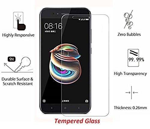 RSDS For Xiaomi Redmi A1 / Mi 5x- Premium Anti Explosion Tempered Glass,9H Hardness Ultra Clear,Anti-Scratch,Bubble Free,Anti-Fingerprints & Oil Stains Coating for Xiaomi RedmI Note A1 / Mi 5x - CLEAR
