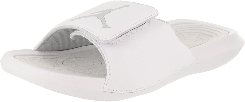 Nike Jordan Mens Hydro 6 White Pure Platinum Synthetic Leather Sandals 9 US