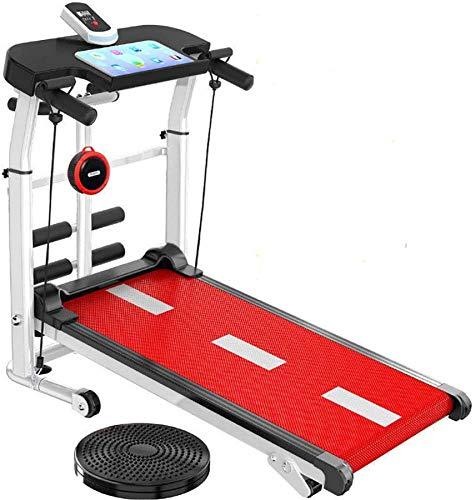 Wghz Mini Equipo de pérdida de Peso de Fitness Mini Cinta de Correr Plegable con Cintura para Correr/torcer/Abdominales, Cinta de Correr ensanchada de 45 cm, Adecuada para el hogar u Oficina,
