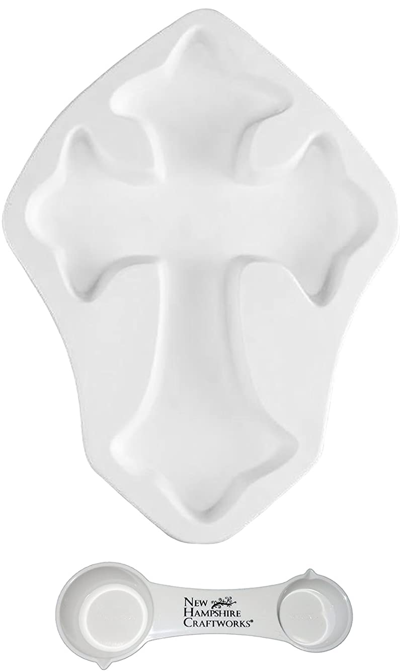 Medium Cross - Includes Frit Measuring Spoon - Fusible Glass Frit Casting Mold bneryqqbe889615