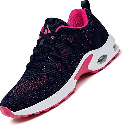 Mishansha Scarpe da Running Corsa Donna Air Leggero Scarpa per Fitness Femmina Respirabile Casual Ginnastica Sneakers Rosa, Gr.40 EU