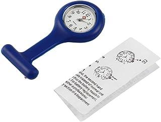 ساعة صغيرة محمولة من جل السيليكون الأطباء الممرضات بروش دبوس جيب فوب تونك