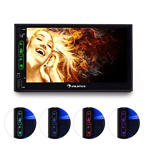 "auna MVD-470 - Autoradio, Doppel-DIN-Moniceiver, 4 x 25W RMS Leistung, 7\""-Touchscreen, Bluetooth, USB & microSD, Front- & Rückkamera-Anschlüsse, schwarz"
