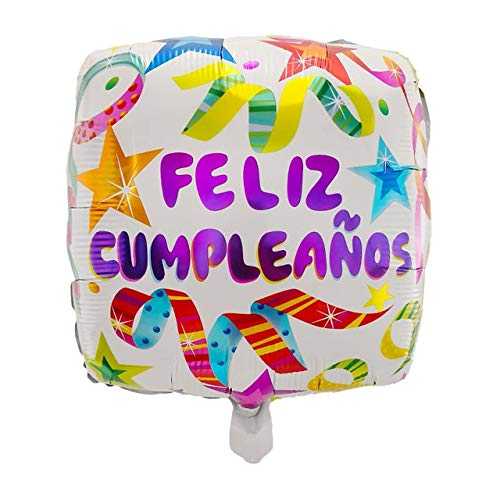 Great Price! Xucus 50pcs 18inch Spanish Happy Birthday Party Decoration Foil Balloons Feliz Cumplean...