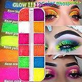 12 colori / scatola ombretto in polvere sciolto, tavolozza di ombretti con pigmenti al neo...