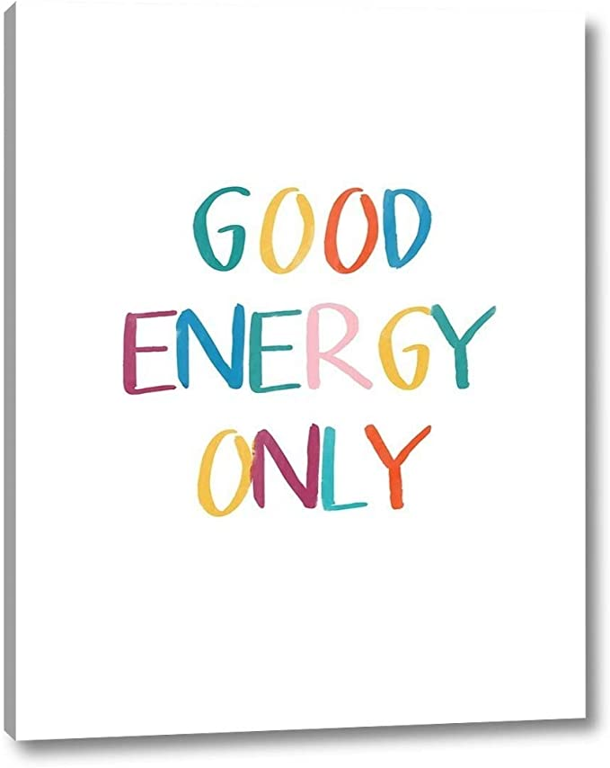 Good Energy Only By Linda Woods 30 X 38 Canvas Art Print Gallery Wrapped Ready To Hang Posters Prints Amazon Com