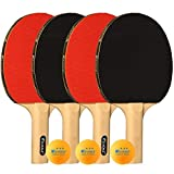 Kevenz Ping Pong Paddle, Professional Table Tennis Racket, Patented Ping Pong Paddles with Long Handle, Family...