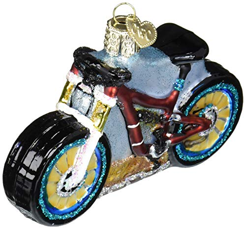 Old World Christmas Bike Collection Glass Blown Ornaments for Christmas Tree Dekor, Mountainbike, 3