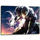 Ironman Motiv auf Leinwand im Format: 100x70 cm. Hochwertiger Kunstdruck als Wandbild. Billiger als...