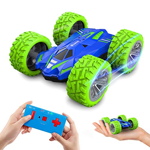 Mini RC Car for Kids and Adults, EACHINE EC07 Micro RC Cars Double-Sided Fast Off Road Stunt Race 360° Rotating Small Remote Control Car RC Vehicle Toys for Boys and Girls 4-7 Birthday Gift