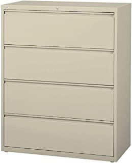 Lorell 4-Drawer Lateral File, 36 by 18-5/8 by 52-1/2-Inch, Putty