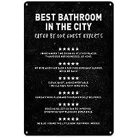 トイレポスターロゴ、街中最高の浴室、浴室壁装飾の壁アート、面白い浴室ロゴ、浴室装飾、浴室アート、8×12インチ
