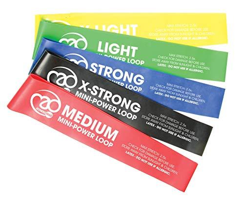 Fitness Mad, Elastici Fitness Bande Elastiche Fitness di Resistenza, 30.6cm, Muticolore, per Fitness Yoga Crossfit