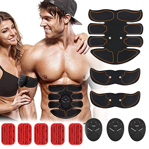 Muscle Toner Abs Toner EMS Body Muscle Trainer for Men Women Portable Abdominal Work Out Fitness Training Gear for Abdomen/Arm/Leg Training Home