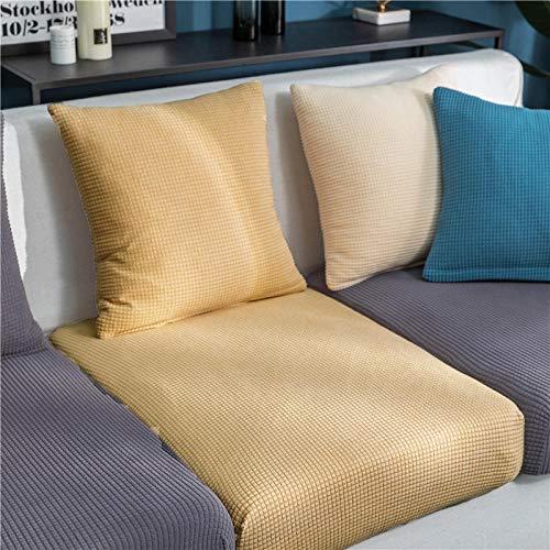B/H Muebles Elegante Sofa Cubre,Cojín de sofá de Lana de maíz, Funda de sofá elástica de Color sólido-W_50-70cm,Fundas de sofá de Esquina