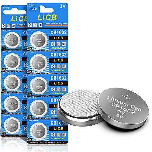 LiCB 10 Stück CR1632 3V Lithium Knopfzellen CR 1632 Batterien