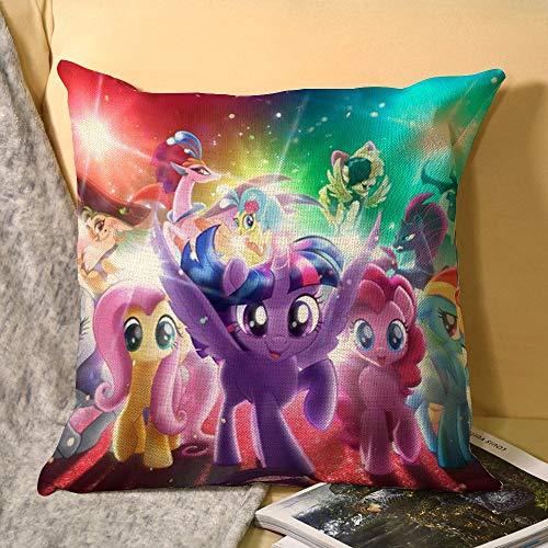 My Little Pony - Funda de cojín (lino, 45,7 x 45,7 cm)